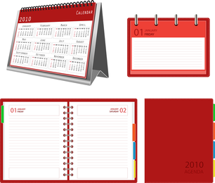 Calendar Notepad Vector
