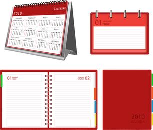 Vetor de bloco de notas de calendário