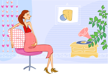 Pregnant mother illustration