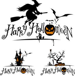 La bruja de Halloween y gráficos vectoriales
