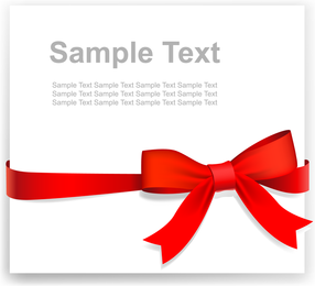 Practical Ribbon Bow Vector