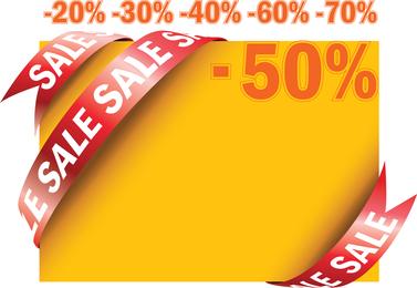 Sale Ribbon Card Vector
