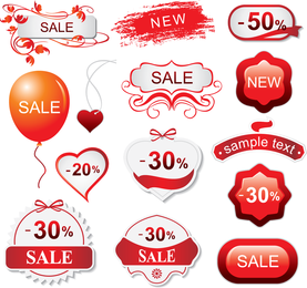 Red Theme Vector Goods