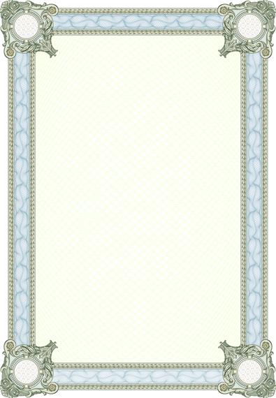 Elegant Light Blue Frame