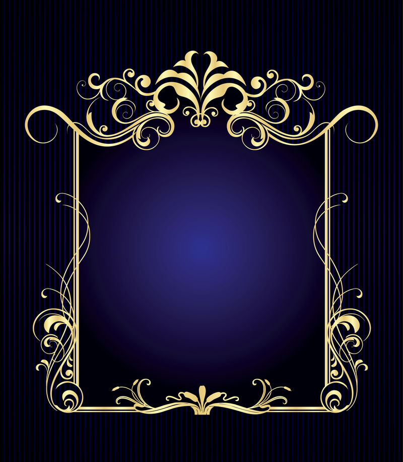 Decorative frame over blue - Vector download