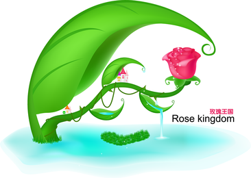 Rose Fairytale World Vector original