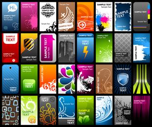 Una variedad de vector de plantilla de tarjeta la tendencia