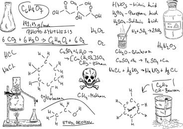 Vetor de símbolo de fórmula química