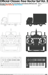 Trucks Video Recorder Keyboard Vector