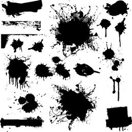 Efeito prático de traços de tinta Inkjet Vector