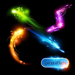 Lindos efeitos de luz brilhante 01 vector