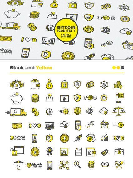 56 Conjunto de iconos de Bitcoin