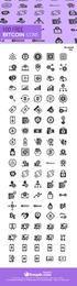 Coleção de 100 ícones de Bitcoin
