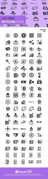 Colección de iconos de 100 Bitcoin
