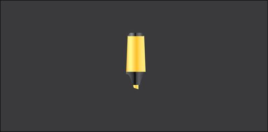 Yellow Highlighter Vector