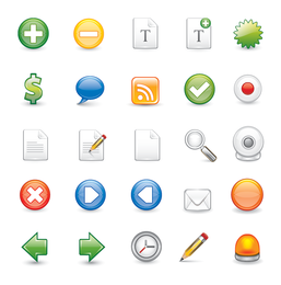 25 web isolated 3D icons collection