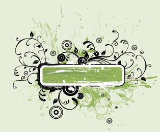 Grunge swirls rectangular frame