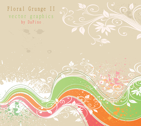 Floral Grunge II Vector Graphics