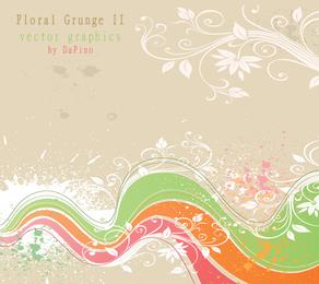 Grunge floral II de gráficos vectoriales