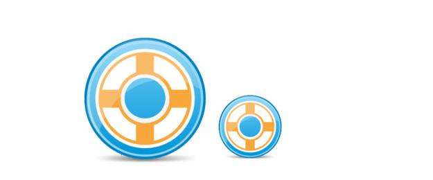 Conjunto de ícones de roda de círculo