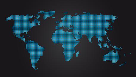 Mapa del mundo vector gratis Descargar