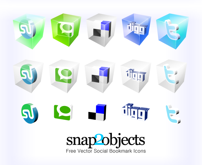 Free Social Bookmark Vector icons