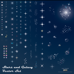 Free Stars and Galaxy Vector Pack