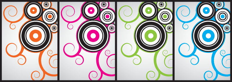Colorful abstract swirl backgrounds