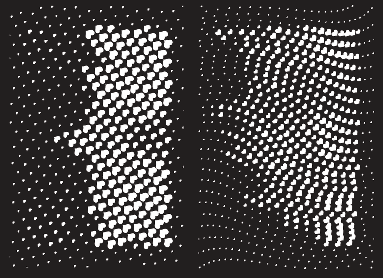 Vector Halftone heart pattern