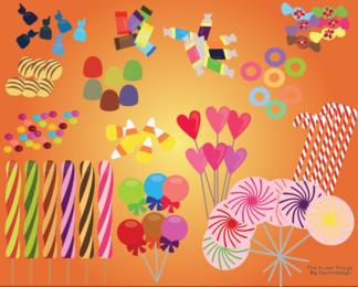 Vectores gratis de dulces