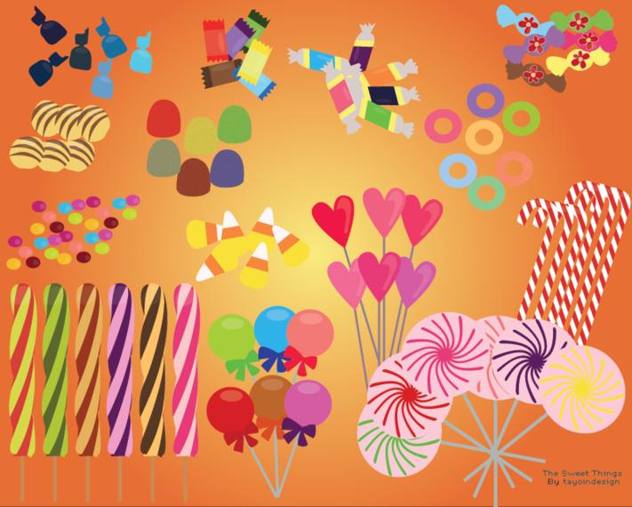 Candy free vectors