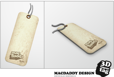 3D Luggage tag in vector - Download