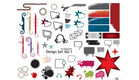 Conjunto de vectores de diseño 1