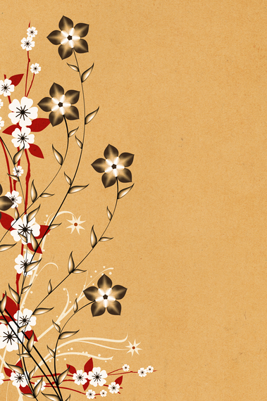China Dream Floral Background