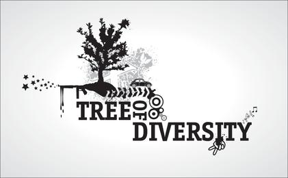 """""""Baum der Vielfalt"""" Free Vector"""