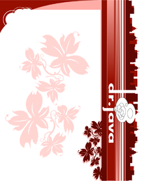Backdrop design with red flowers