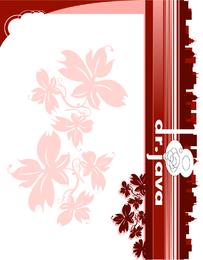 Hintergrundauslegung mit roten Blumen