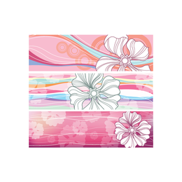 Horizontal Flowered Banners - Download Page