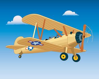 Gratis Vintage Vector Aircraft Graphic - página de descarga
