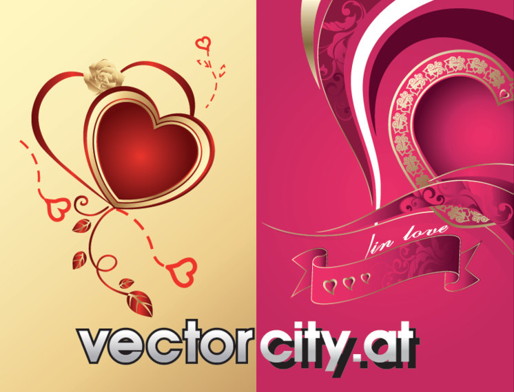 Free Vector Hearts from Vectorcity.at