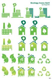 Conjunto de ícones de ecologia 1 - página para download