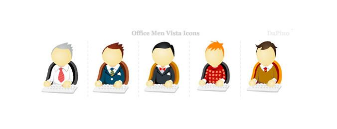 Office Men Vista Icons in Vector - Download Page