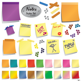 Vector Notes Set - Download Page