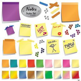 Vector Notes Set - Página de descarga