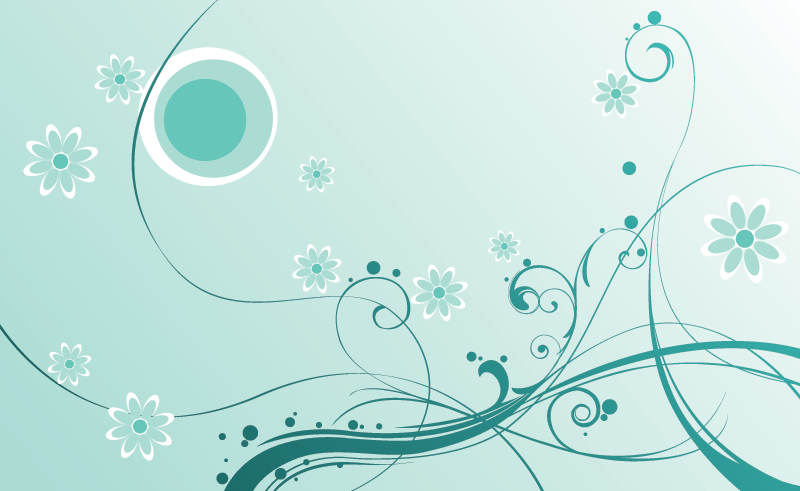 Vector Swirls & Flowers
