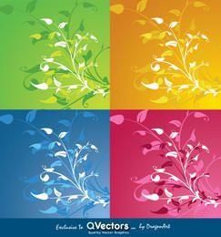 Gráficos de vetor de decoração de flor Exclusivamente para qvectors.net