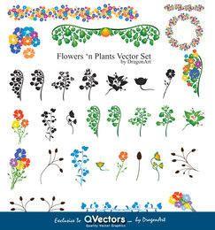 Flores? N plantas gráficos vetoriais - QVectors exclusivel