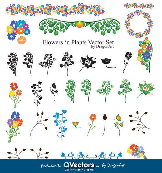 Flowers?n Plants Vector Graphics - QVectors exclusivel