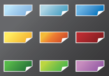 Free Vector Rectangle Stickers - Download Page