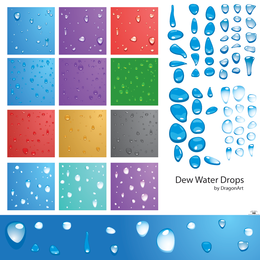 Dew Water Drops Vector - página de descarga